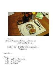 Croquet - The Geriatric Gourmet