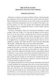 THE TEN PLAGUES - Jewish Bible Quarterly