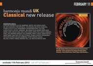 Classical new release - Harmonia Mundi UK Distribution