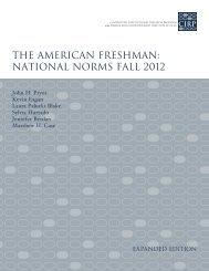 the american freshman - Higher Education Research Institute - UCLA