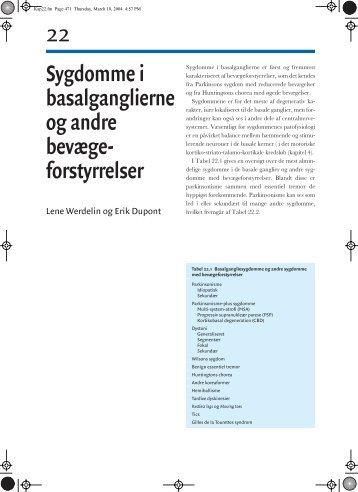 Sygdomme i basalganglierne og andre bevægeforstyrrelser