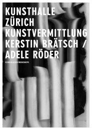 SCHULKLASSEN-WORKSHOPS - Kunsthalle Zürich