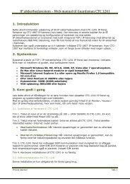 IP sikkerhedssystem – Web manual til Guardsman ... - Private Alarmer