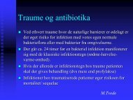 Traume og antibiotika