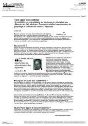 Le Journal du Management du 24.05.2006 - Costkiller