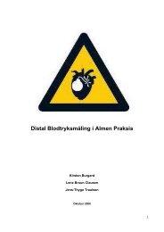 Distal Blodtryksmåling i Almen Praksis - Institut for Folkesundhed