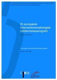 Et europæisk Interventionsradiologisk Uddannelsesprogram