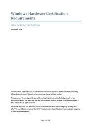 Windows Hardware Certification Requirements