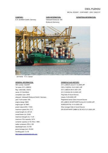 CSCL FUZHOU - Cargo Vessels International