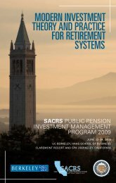 modern investment theory and practice for retirement systems - sacrs