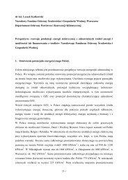 Perspektywy rozwoju produkcji energii elektrycznej z ... - MANHAZ
