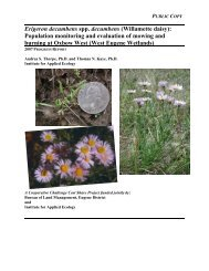 Population monitoring and evaluation of mowing and burning at ...