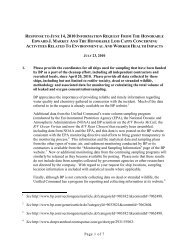 full response from BP is available here - The Select Committee for ...