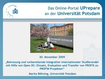 an der Universität Potsdam - Open DC - Distributed Campus