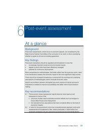6 Post-event assessment