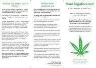 Hanf legalisieren! - des Deutschen Hanf Verband