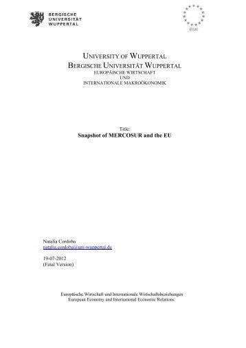 EU-MERCOSUR Trade Information - EIIW