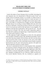 Pharaoh's Dream - Jewish Bible Quarterly