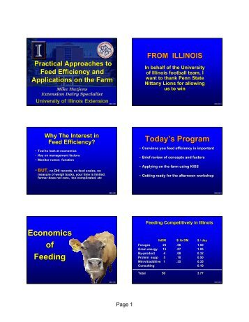 Feed Efficiency - Penn State University