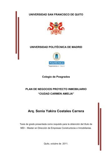 Ciudad Carmen Amelia - Repositorio Digital USFQ - Universidad ...