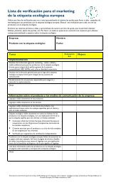 Marketing Guide Checklist ES - EU Ecolabel Marketing for Products