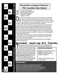 November, 2000 - Photographic Society of Chattanooga