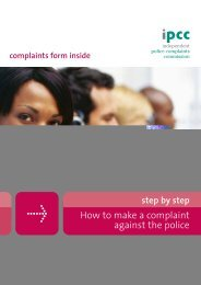 form of the police complaints commission - Indymedia London