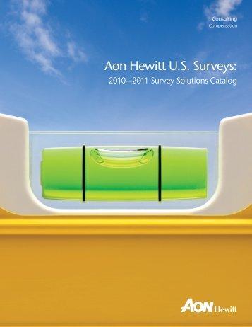 2010—2011 Survey Solutions Catalog - Aon