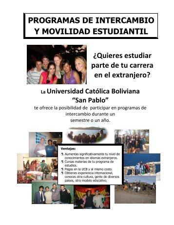 PROGRAMAS DE INTERCAMBIO Y MOVILIDAD ESTUDIANTIL ...