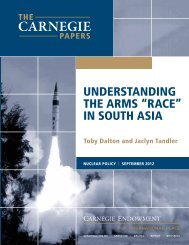 """UNdERSTANdINg ThE ARMS """"RACE"""" IN SOUTh ASIA - Carnegie ..."""