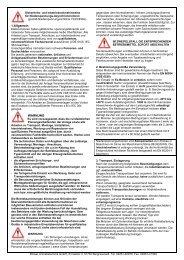 Betriebsanleitung - Stoewer-Getriebe.de