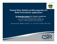 Natural Fiber Reinforced Biocomposites for Built ... - Alive2green