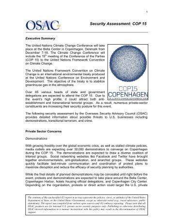Security Assessment: COP 15