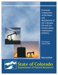 Colorado DNR Economic Comparison of the Rules and Regulations ...