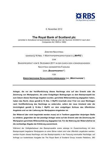 Basisprospekt für Kreditbezogene Schuldverschreibungen ... - RBS