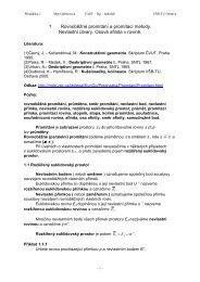 1 Rovnoběžné promítání a promítací metody. Nevlastní ... - HomeL