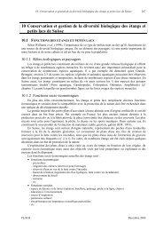 10 Conservation et gestion de la diversité biologique des ... - Leba