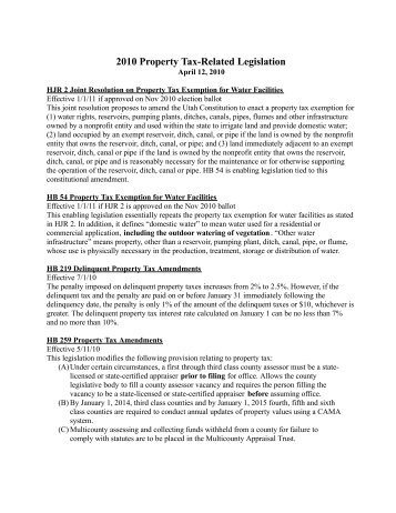 Property Tax - Utah State Tax Commission - Utah.gov