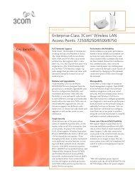 3Com 7250 Wireless AP Data Sheet - MTMnet
