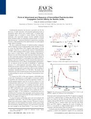 Point of Attachment and Sequence of Immobilized Peptide-Acridine ...