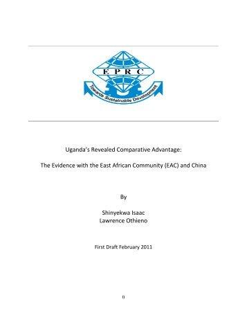 Uganda's Revealed Comparative Advantage - DAAD partnership on ...