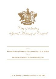 Special M eeting of Council City of Stirling