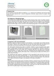 CO2 Balance: Shopping bags - Climatop