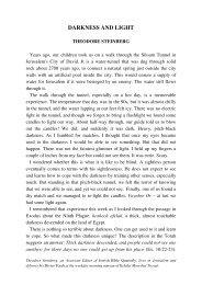 DARKNESS AND LIGHT - Jewish Bible Quarterly