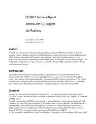 CESNET Technical Report Asterisk with SS7 support Jan ... - HomeL