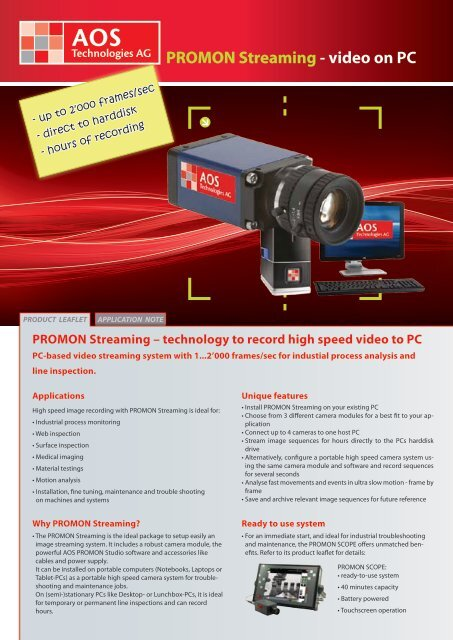 PROMON Streaming - video on PC - AOS Technologies AG