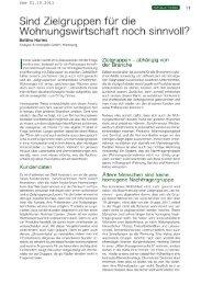 Sind Zielgruppen für die Wohnungswirtschaft ... - Analyse & Konzepte