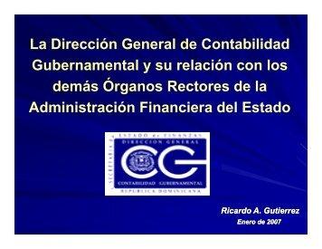 44. Taller sobre Contabilidad Gubernamental y el rol de la Dirección General de Contabilidad Gubernamental (DIGECOG).2007.República Dominicana.pdf