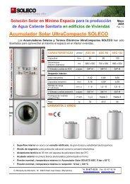 Acumulador Solar UltraCompacto SOLECO - Habitissimo