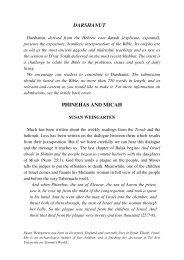 Darshanut: Phineas and Micah - Jewish Bible Quarterly
